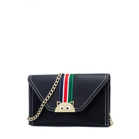 Women's PU Leather Metals Chain Crossbody Bag - Fashion Under Arrest