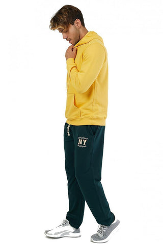 Men's Embroidered Plain Sweatpants.