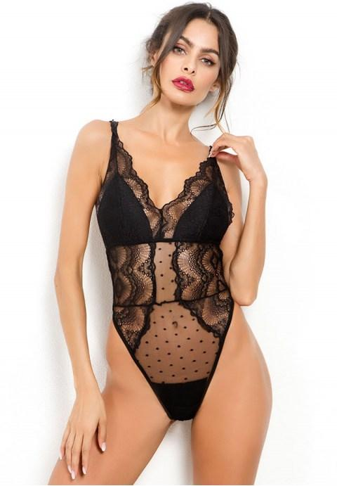 Floral Lace Teddy.