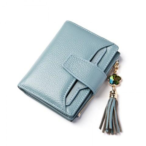 Women's Small Genuine Leather Trifold Wallet.