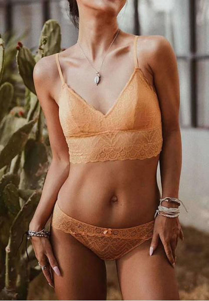 Longline Lace Bralette Set - Fashion Under Arrest