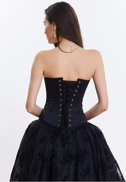 Women's Strapless Sexy Embroidery Corset.