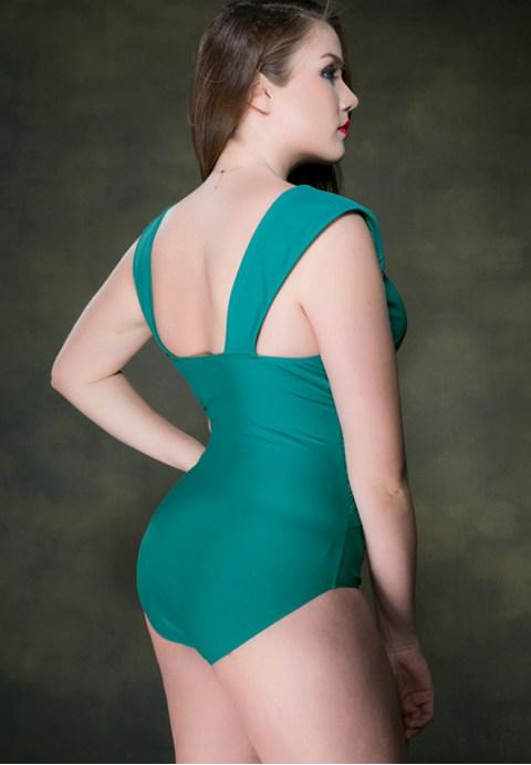 Women's One-Piece Triangle Plus Size Bathing Swimsuits.