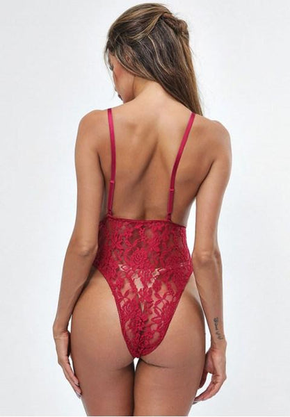 Plunging Lace Teddy.