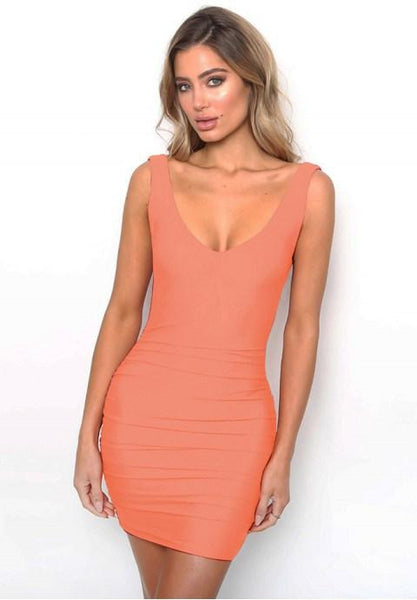 Sexy Sleeveless Backless Bodycon Dress.