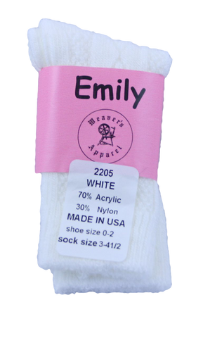 Emily Girl's Acrylic Knee-High, Diamond Pattern