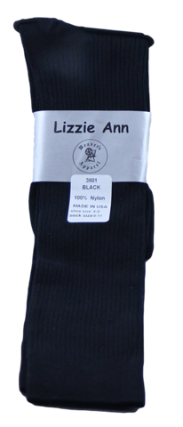 Lizzie Ann Women's Nylon Knee-Highs with Ribbed Pattern
