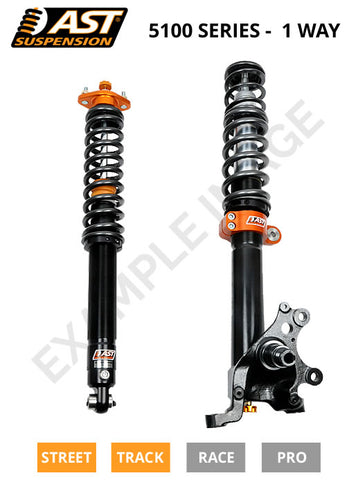 AST Suspension 1-Way 5100 coilover kit - Ford Focus RS MK3 2.3T Ecoboost - ACU-F6002S - R-Ace Motorsport