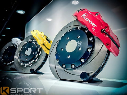 K-Sport front brake kit - 421mm (super 8 pot with fully floating discs)