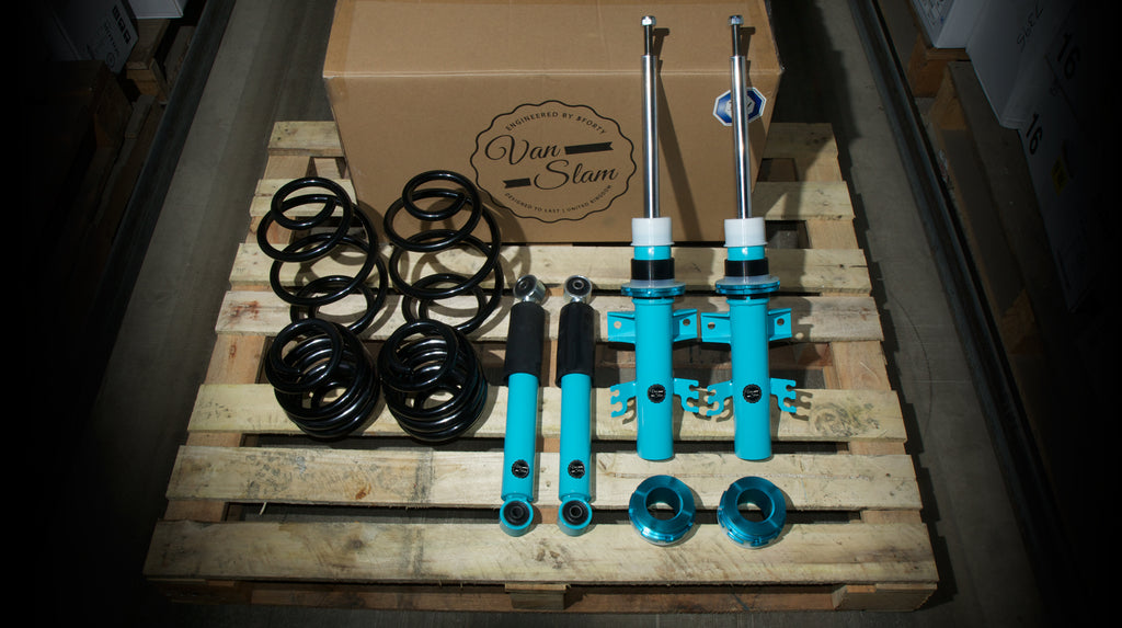 Fivefourty Van Slam coilovers to fit VW transporter T6 - R-Ace Motorsport