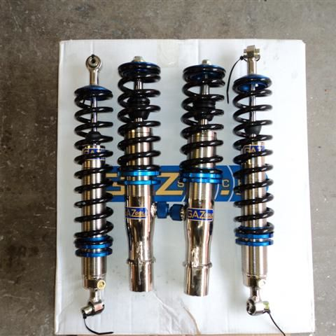 GAZ GOLD TRACK COILOVER SUSPENSION COILOVER KITS TO FIT PORSCHE 924 - R-Ace Motorsport