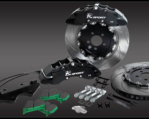 K-Sport front brake kit - 444mm (super 12 pot with fully floating discs)