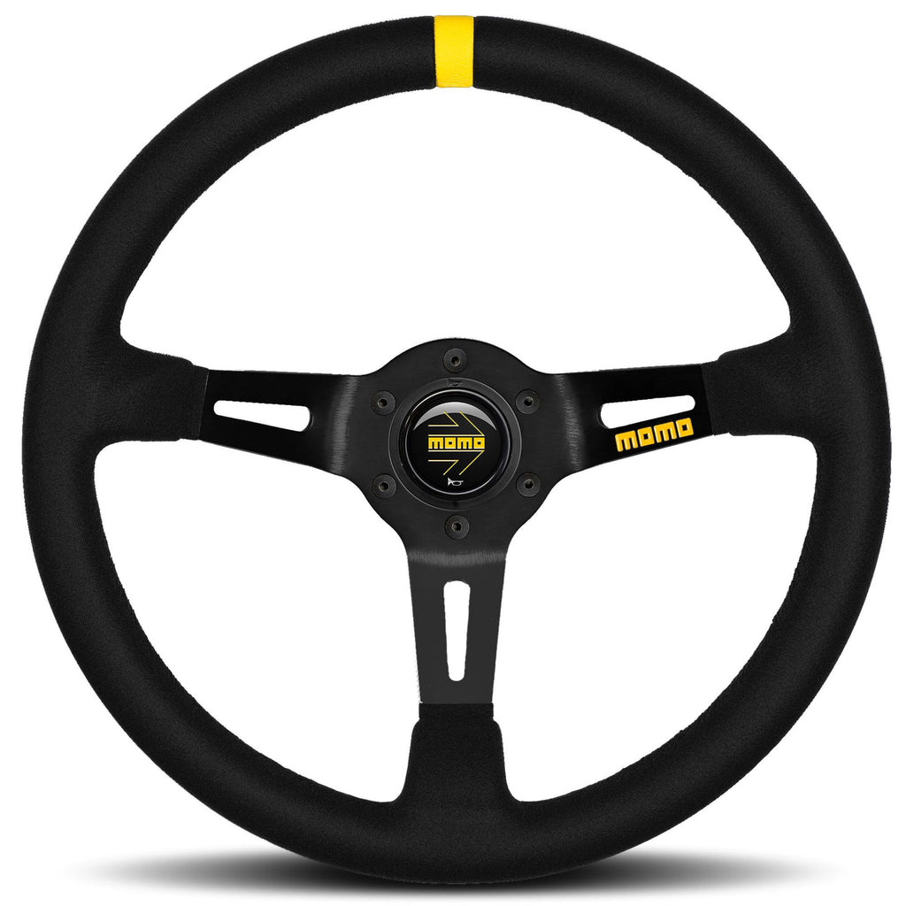 MOMO MODEL MODEL 08 STEERING WHEEL BLACK/BLACK