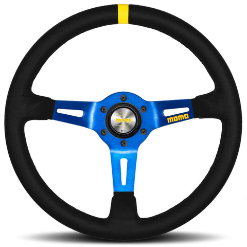 MOMO MODEL MODEL 08 STEERING WHEEL BLACK/BLUE