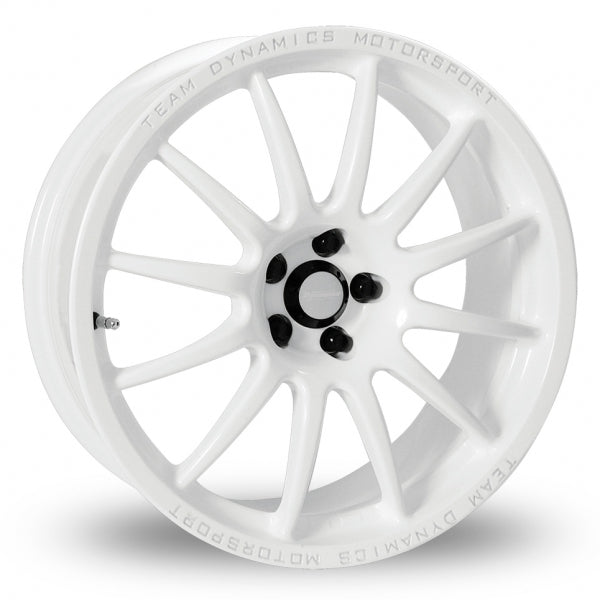 TEAM DYNAMIC PRO RACE 1.3 18X8.5J ALLOY WHEELS (WHITE)