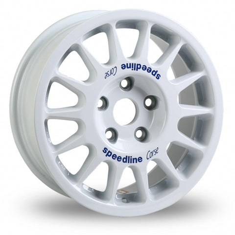 SPEEDLINE 2118 15X6J 4X100 ALLOY WHEELS (WHITE)