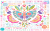 "Stephanie Corfee ""Fly Free"" Blanket with Names"