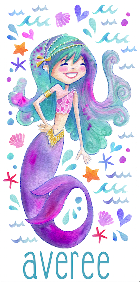 Stephanie Corfee Artist Mermaid Beach Towel-Luscious Locks
