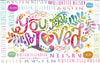 "Stephanie Corfee ""GIRL You Are So Loved"" Blanket with Names"