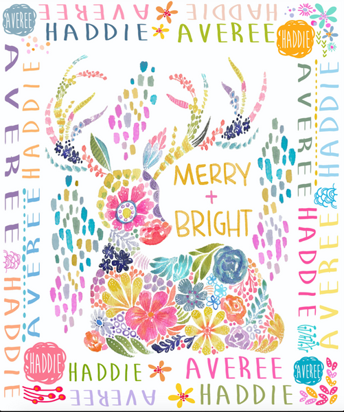 Merry and Bright Holiday Blanket with Stephanie Corfee