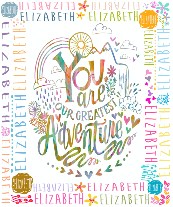 You are Greatest Adventure Blanket with Stephanie Corfee