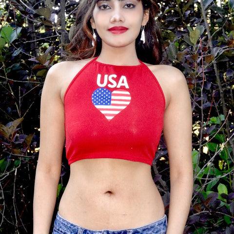 Country Flag Crop Tops