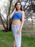 Sirenaz Blue Lasagna Crop Tank Top