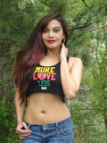 More Love Less Hate Black Crop Tank Top