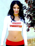 San Francisco 49ers Forever Long Sleeve White Crop Top