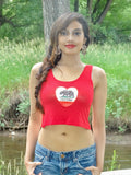 California Love Red Crop Tank Top
