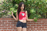 Mexico Red Halter Crop Top
