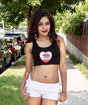 California Love Black Crop Tank Top