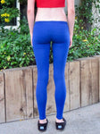 Ultra Low Rise / Super Low Rise Blue Leggings / Made in USA