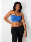 Blue Crop Tube Top / Made in USA