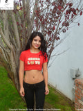 Sirenaz Red San Francisco 49ers Love Short Sleeve Crop Top