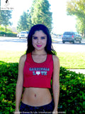 Arizona Cardinals Love Red Ribbed Crop Top