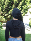 Sirenaz Wholesale Distressed Long Sleeve Crop Top Hoodies:  Any Color