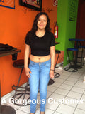 A beautiful customer in a Sirenaz Crop Top.