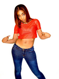 Loose Boxy Red Crop Top Jersey / Made in USA