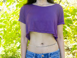 Soft Purple Short Sleeve Crop Top