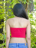 Red Crop Tube Top