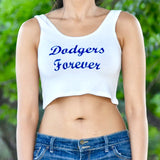 Dodgers Forever White Crop Top / Cropped Tank Top