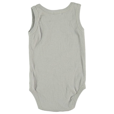 Baby body Cat by Picnik Barcelona - light grey