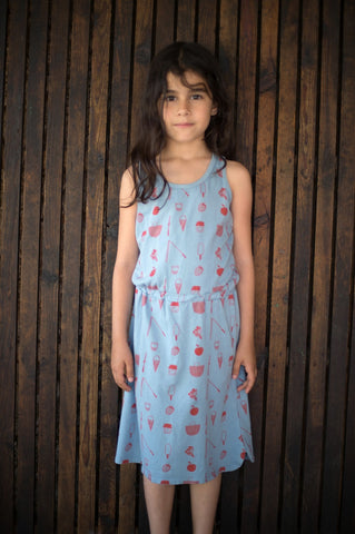 Girls sleeveless dress Picnik by Picnik Barcelona - blue