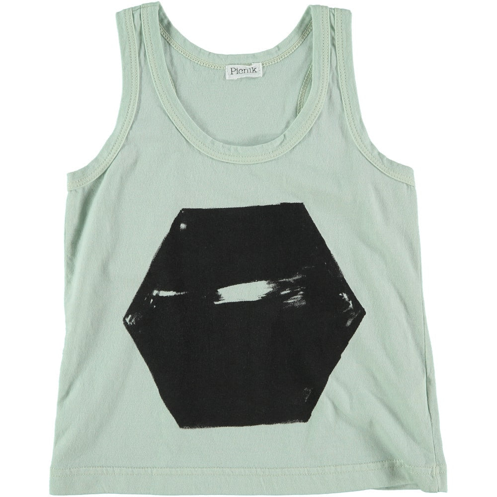 Picnik Barcelona - tank top Hexagon - mint