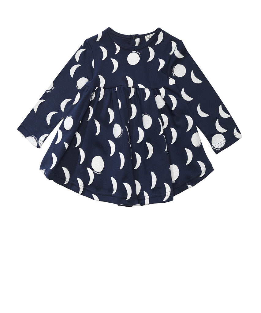 Beau LOves - Baby dress Moons - Midnight Blue