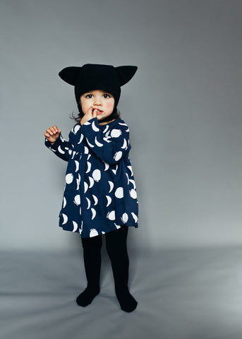 Baby dress Moons by Beau LOves - Midnight Blue