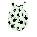 Beau LOves - Baby harper sun suit Rabbit Dots - Pale Lime