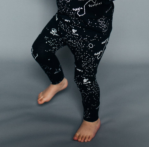Baby Pants Galaxy by Beau LOves - Jet Black
