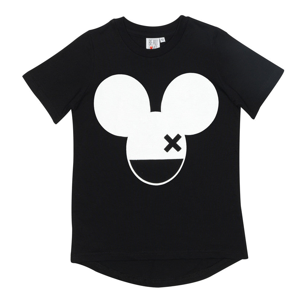 Beau LOves - Fin t-shirt Mouse X - inky black